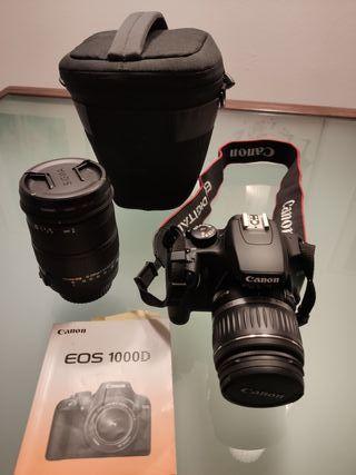 Canon EOS 1000D + objetivo Sigma 18-200 mm f/3.5-
