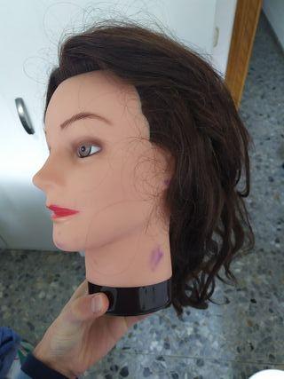 Maniquí mujer pelo largo con soporte incluido