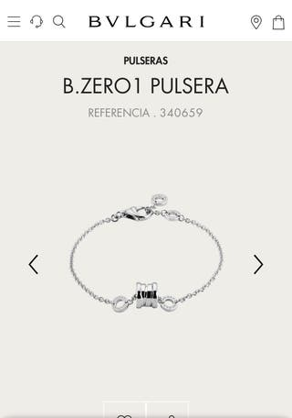 Bvlgari pulsera B zero 1 oro blanco