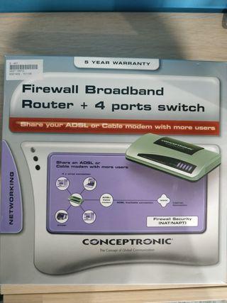 Router switch 4 puertos [NUEVO]