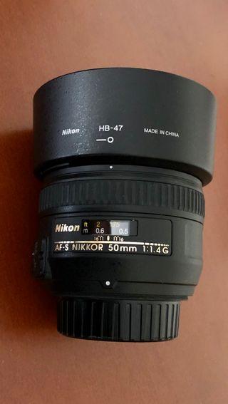 Objetivo Nikon AF-S 50 mm 1.4 nikkor