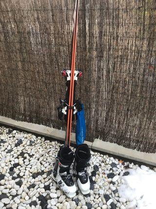 Equipo de esquí de travesía esquís 158 botas 25