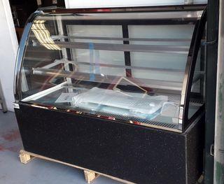 vitrina exhibición refrigerada pastelería ovalada