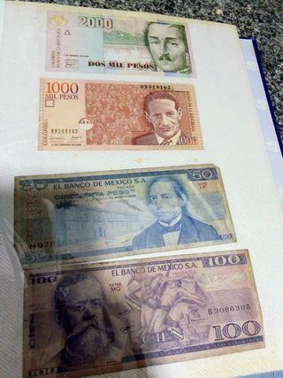 Pesos colombianos, mexicanos y Dirhams