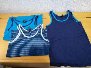 Lote 3 camisetas interiores T 11-12