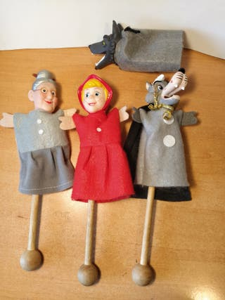 Caperucita Roja marionetas