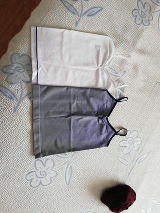 Camisetas interiores tirantes niña. Talla 8