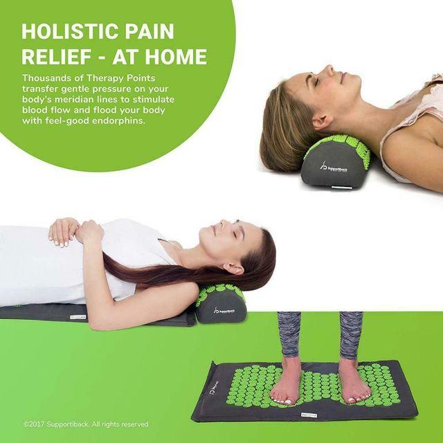 set masaje almohada esterilla acupun tipo pranamat