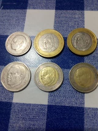 Dirhams marroquíes monedas
