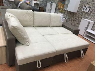 Sofá-cama chaise-longue con arcón STACY