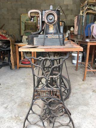Máquina de coser piel antigua SINGER