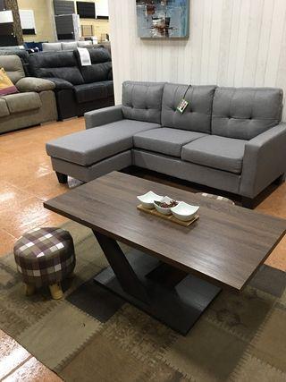 sofá Cheslong Marrón oscuro Nuevo