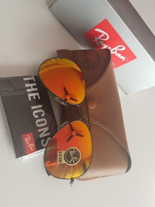 Gafas de sol Ray-Ban aviador naranjas