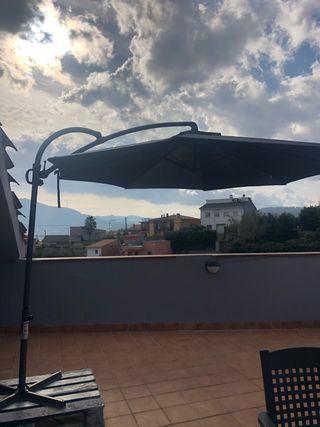 Sombrilla De aluminio sillas y mesa de jardín