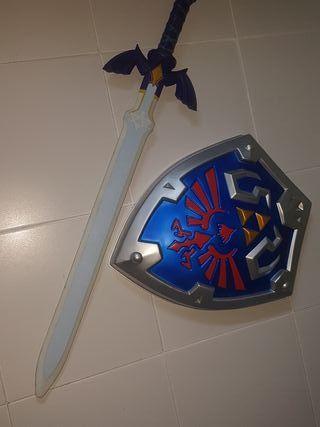 Espada y escudo link legend of zelda