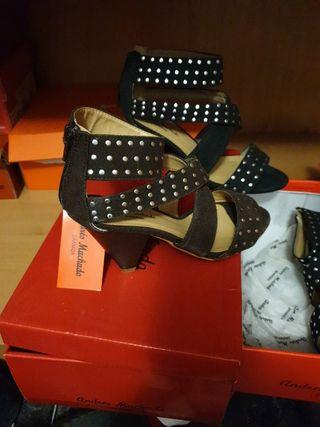 sandalias de tacón bajo nunero 33