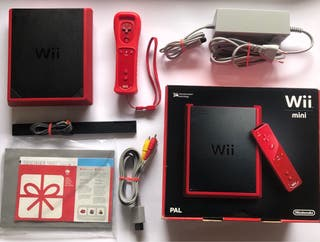 Wii mini roja + tabla fit + 3 juegos