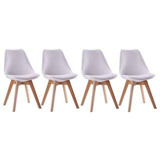 Conjunto de 4 sillas escandinavas - Blancas