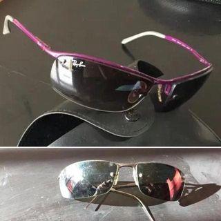 2 Gafas de sol RAY- BAN unisex con funda de marca