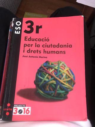Educació per la ciudadania i drets humans 3 Eso