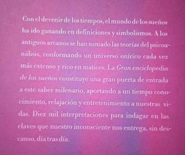 libro Gran enciclopedia de los sueños.