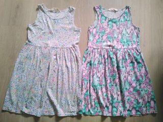 Pack 2 vestidos Niña 6 8 años estampados