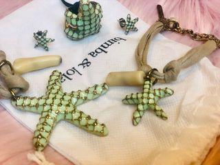 Conjunto anillo /pulsera/collar/Pendientes