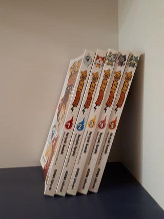 lote libros yo - kai watch 1 a 5 español