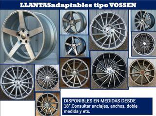 Llantas adaptables tipo Vossen.