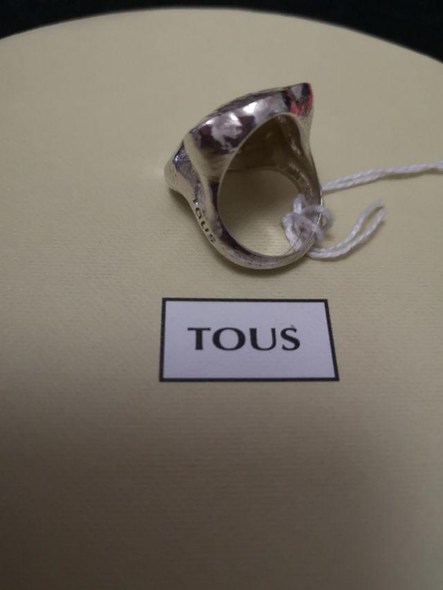 anillo tous plata duna original