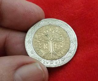 MONEDA DE 2 EUROS AÑO 2001