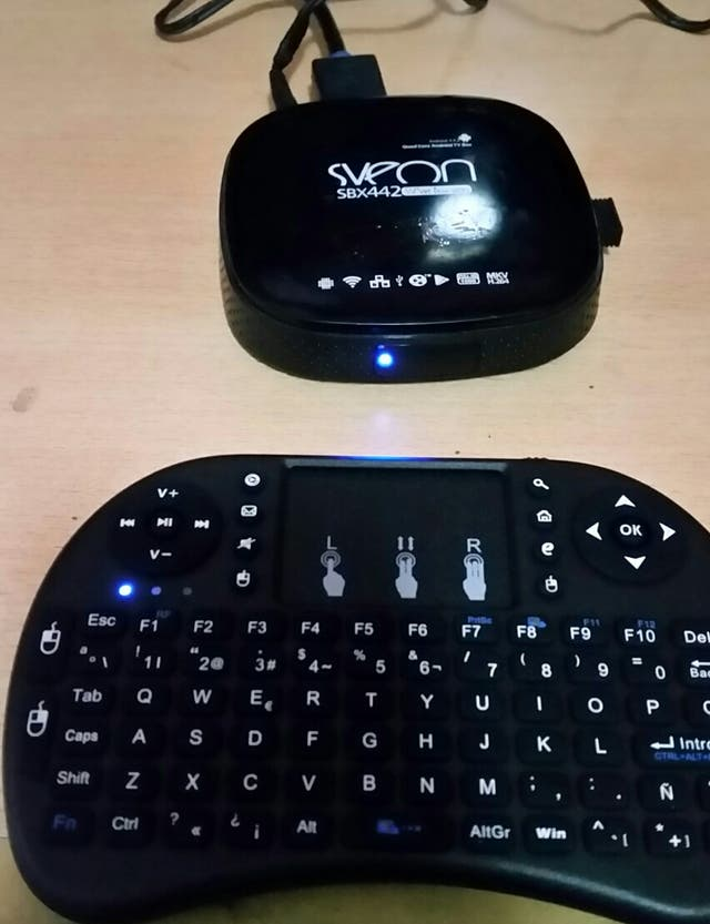 tv android box sveon con teclado