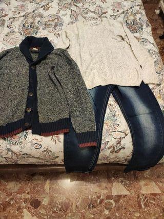 Jersey,chaqueta y vaquero niño