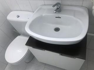 Conjunto inodoro y lavabo