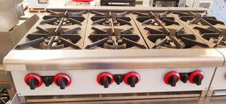 cocina sobremesa 6 fuegos
