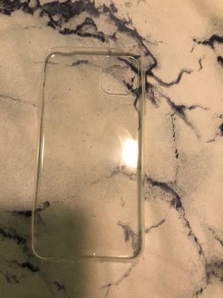 Carcasa blanca iPhone 11 plus pro max transparente