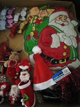 Lote adornos de Navidad.