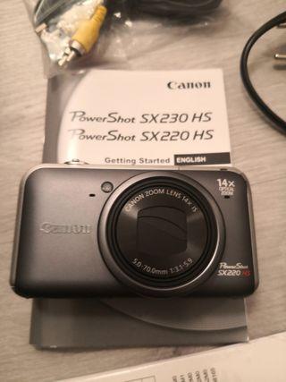 camara canon powershot sx220hs
