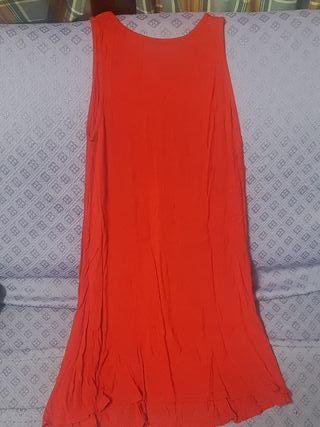 vestido simple rojo