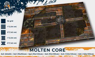 Molten Core - Tapete para Wargames (Warhammer 40k)