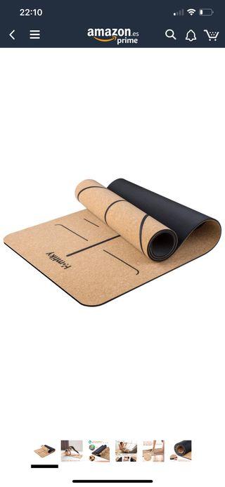 Esterilla yoga corcho 100% natural NUEVA a estrena