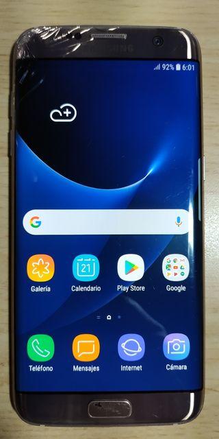 Samsung Galaxy S7 Edge Rosa 32Gb esquina agrietada