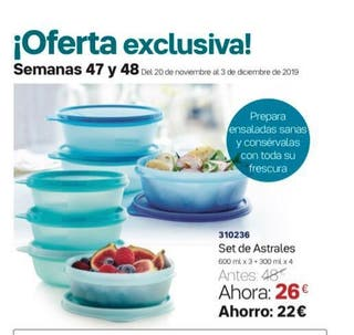 SET 7 ASTRALES TUPPERWARE