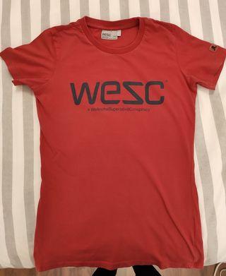 Camiseta WESC en roja
