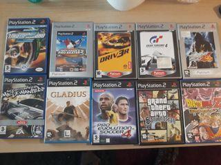 lote 10 juegos PS2