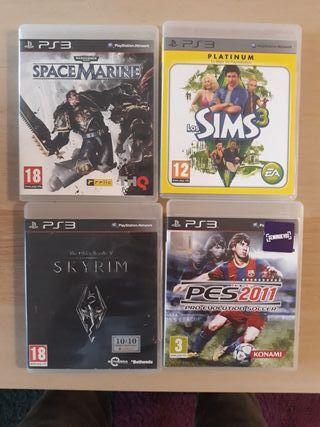 lote 4 juegos PS3
