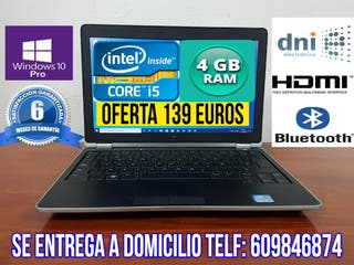 PORTATIL CORE i5 CON 4 GB RAM 250 GB HDD HDMI ETC