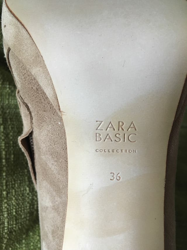 ZARA botines nuevos 36 de ante..