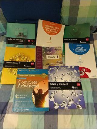 Libros escolares 1°Bachillerato