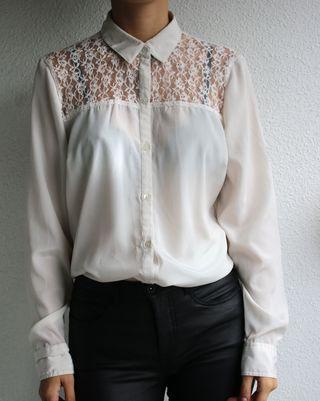 Camisa encaje vintage talla grande